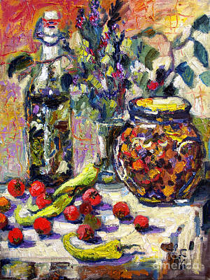 French Provence Cooking Still Life Poster by Ginette Callaway