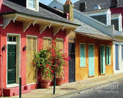 French Quarter Cottages Poster by Kathleen K Parker