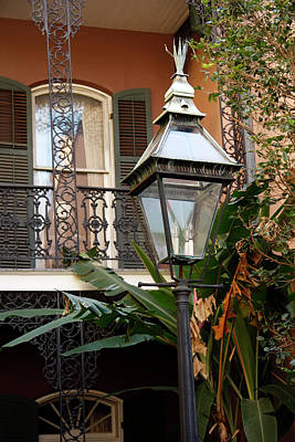 Poster featuring the photograph French Quarter Courtyard by KG Thienemann