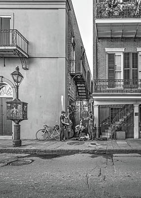 French Quarter Trio Monochrome  Poster