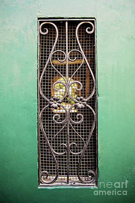 French Quarter Window To The Courtyard Poster by Scott Pellegrin