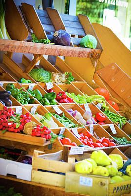 French Vegetable Market 2 Poster