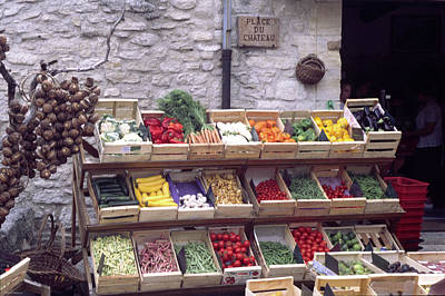 French Vegetable Stand Poster
