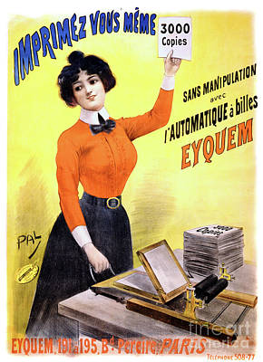 French Vintage Advertising Poster Restored Poster