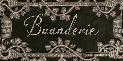 French Vintage Laundry Sign Poster