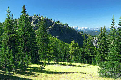 Poster featuring the photograph Fresh Air In The Mountains Photo Art by Sharon Talson