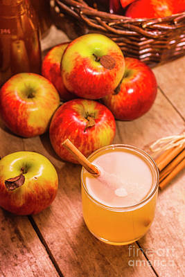 Fresh Apple Juice With Cinnamon Poster by Jorgo Photography - Wall Art Gallery