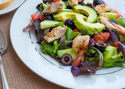 Fresh Chicken Salad With Avocado #1 Poster by Jon Manjeot