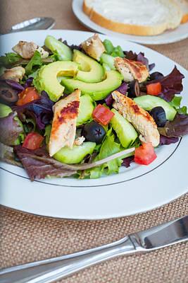 Fresh Chicken Salad With Avocado #2 Poster by Jon Manjeot