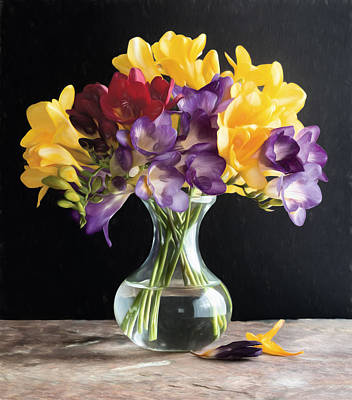 Fresh Freesias Poster