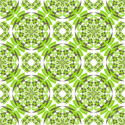 Fresh Geometric Pattern Poster by Gaspar Avila