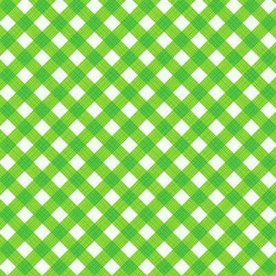 Fresh Green Gingham Fabric Cloth Poster by Natalia Ratselmeister