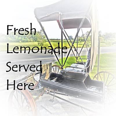 Fresh Lemonade Served Here Poster by Eloise Schneider