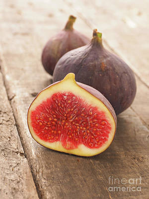 Fresh Organic Figs On Wood Poster