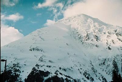 Fresh Snow Peak Poster by Judyann Matthews