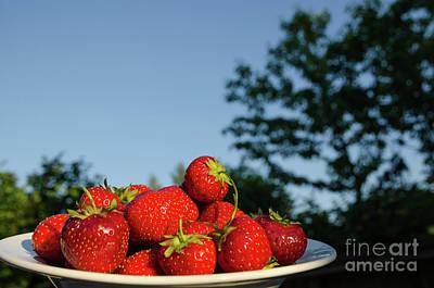 Poster featuring the photograph Fresh Strawberriesl by Kennerth and Birgitta Kullman