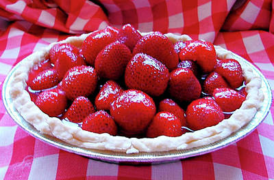 Fresh Strawberry Pie Poster by Angie Baker