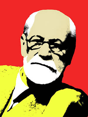 Freud Pop Art Poster by Hudson Melo