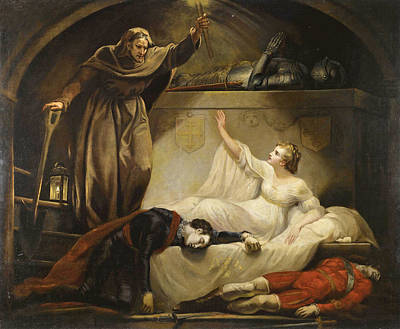 Friar Lawrence At Capulet's Tomb. Romeo And Juliet Act V Scene 3 Poster