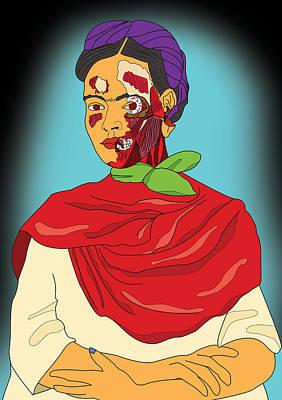 Frida After Ayotzinapa Poster by Jose Maria Carro Lopez