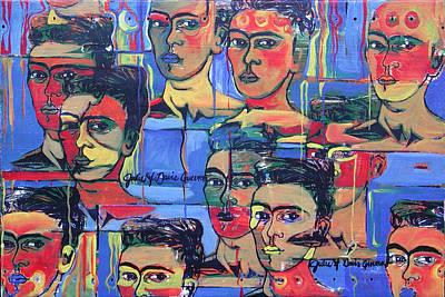 Frida Blue And Orange Poster