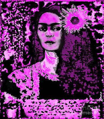 Frida In Frida Pink Poster by Fania Simon