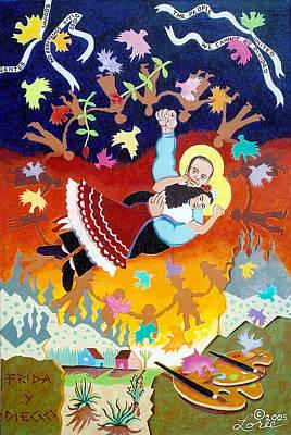 Frida Kahlo Y Diego Rivera Poster