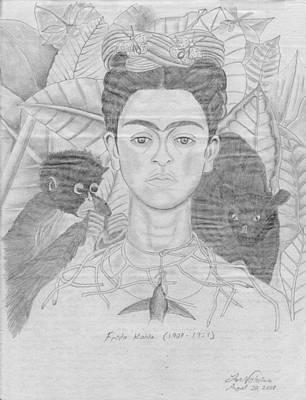 Frida Khalo Poster by M Valeriano
