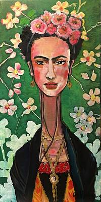 Poster featuring the painting Frida You Are My Vogue by Laurie Maves ART