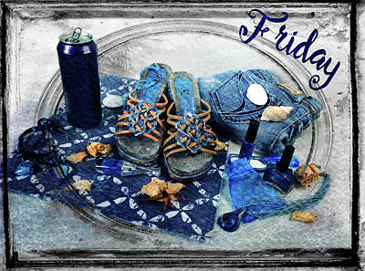 Friday Shoes Poster by Randi Grace Nilsberg