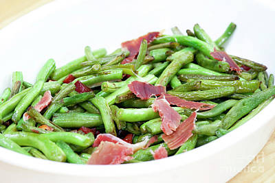 Fried Green Beans With Ham Poster by Michal Boubin
