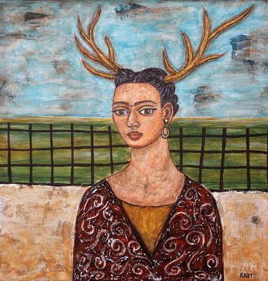 Frieda Kahlo As The Deer Poster by Rain Ririn