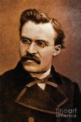 Friedrich Nietzsche, Philosopher By Mary Bassett Poster