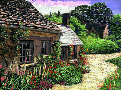 Friendly Cottage Poster by David Lloyd Glover