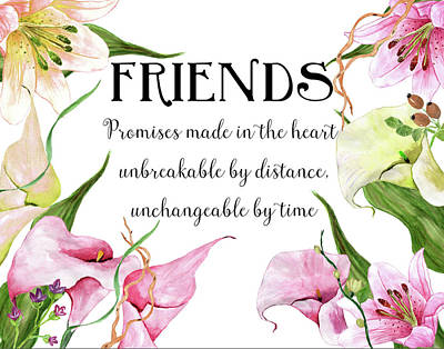 Friends Poster by Colleen Taylor