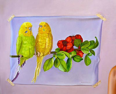 Friends On Flora Poster by Ellery Gutierrez