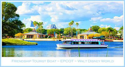 Friendship Boat On The Lagoon Epcot Walt Disney World Poster