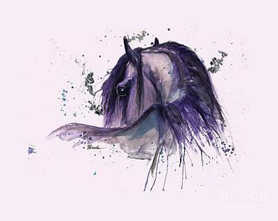 Friesian Horse 2015 11 02 Poster by Angel Tarantella