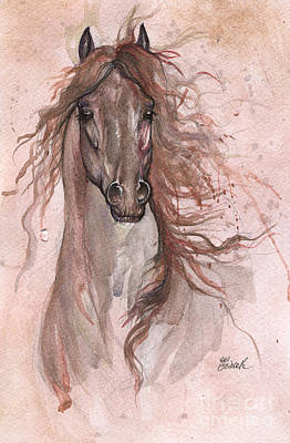 Friesian Horse 2016 01 23 Poster by Angel Tarantella