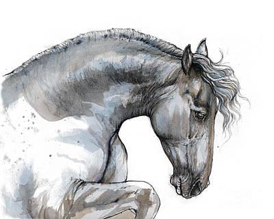 Friesian Horse Poster by Angel Tarantella