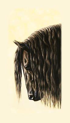 Friesian Horse Phone Case Poster