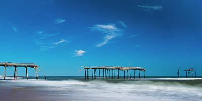 Frisco Fishing Pier In North Carolina Panorama Poster