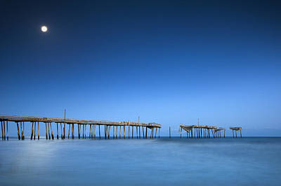 Frisco Pier Cape Hatteras Outer Banks Nc - Crossing Over Poster by Dave Allen