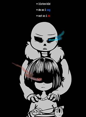 Frisk And Sans Poster by Rene Gut