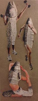 Frisk Som Ein Fisk Poster by Marte Kjoerstad