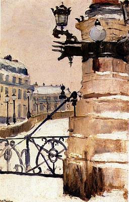 Frits Thaulow Vinter I Paris  Winter In Paris  Poster by Fritz Thaulow