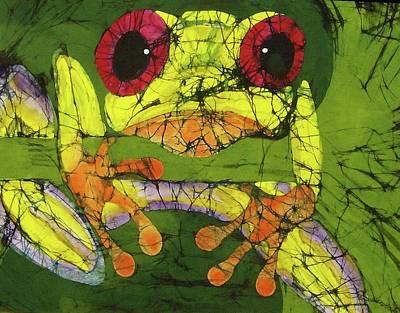 Frog On Gingko Poster