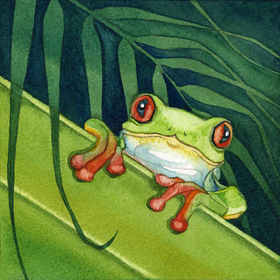 Frog Peek Poster by Lyse Anthony