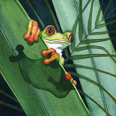 Frog Ready To Leap Poster by Lyse Anthony