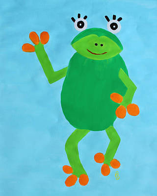 Poster featuring the painting Froggie by Deborah Boyd